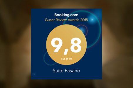 Suite Fasano si aggiudica ilGuest Review Award di Booking